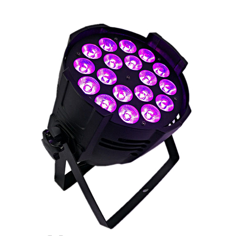 SHEHDS Aluminum Alloy LED Par 18x18 6in1 RGBWA+UV Lighting In Alluminio Dmx 512 Stage Light Impermeable Ip20 Dj Di Illuminazione top selling led par 7x18w rgbwa uv 6in1 stage profession dmx 512 effect lighting power in out for clubs theaters nightclub