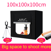CY 100cm Photo Studio LED soft box Shooting photo light tent set+3 Backdrops+dimmer switch Children's clothing shoting tent kits