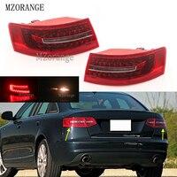 MZORANGE Outside Light LED Tail Lamp Assembly For Audi A6 C6 S6 Quattro RS6 Saloon Sedan 2009 2011 4F5945095J 4F5945096J