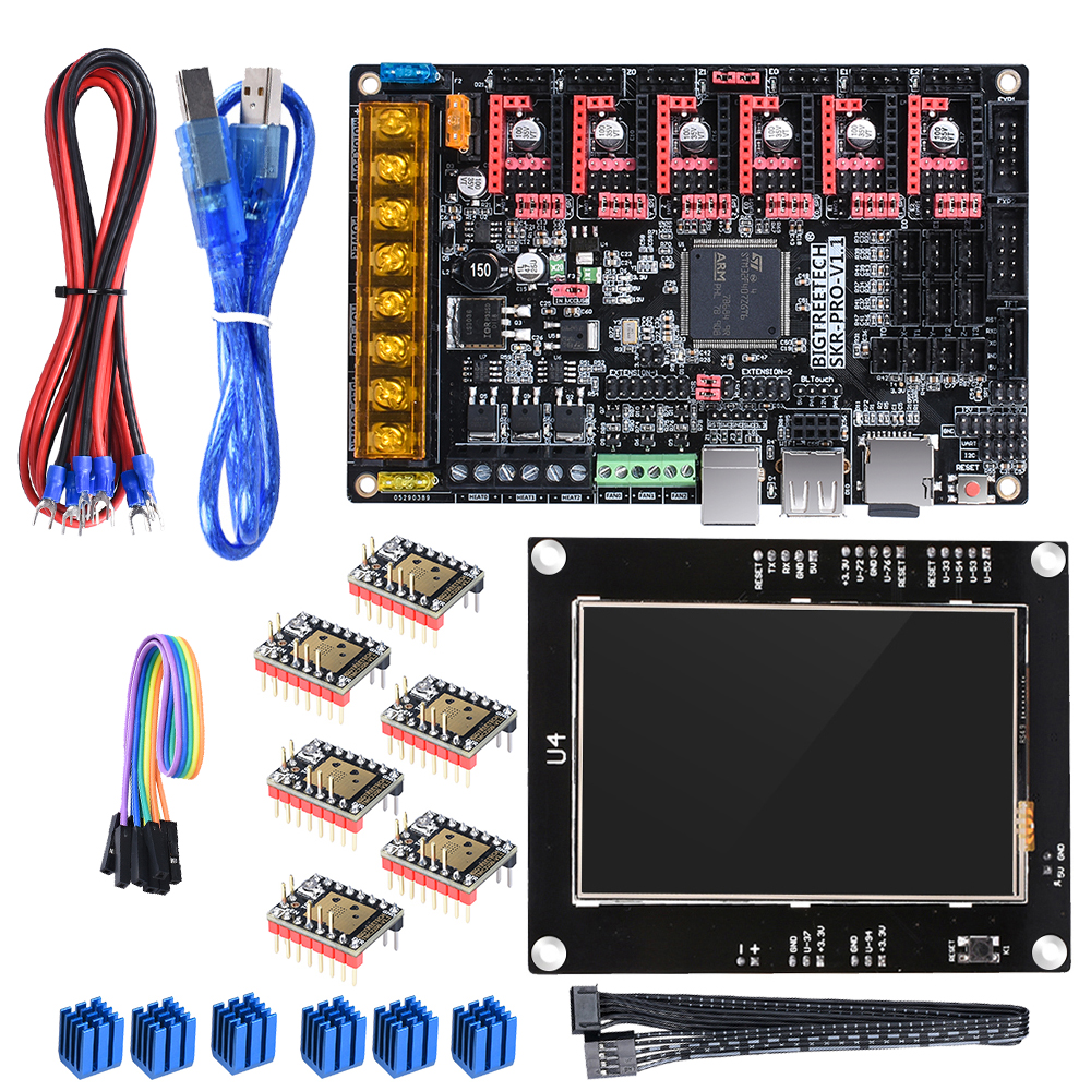 BIGTREETECH SKR PRO V1 1 with TFT35 Touch Screen TMC2208 UART TMC2209 TMC2130 Drivers 6PCS 3D
