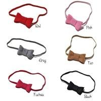 50pcs/lot 6colors Photography Props Newborn Felt Bows Headband Handmade Felt Hair Bows Headbands For Girls Hair Accessories