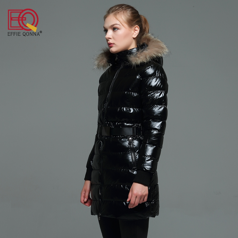 2018 New Fashion Winter Thick Faux Fur Stitched Hooded Cotton Padded Long Sleeve Women Parkas Ladies Black Fall outwear Coats XL