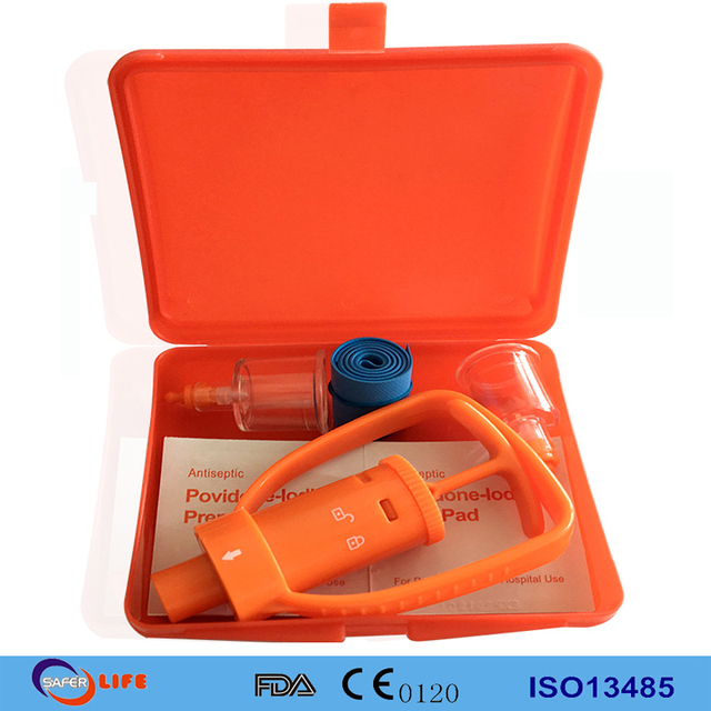 First Aid Tools Bite Pump Venom Extraction Vacuum Pumps With iodine Alcohol Pad Tourniquet For Snakebite, Spider Mosquito Bite