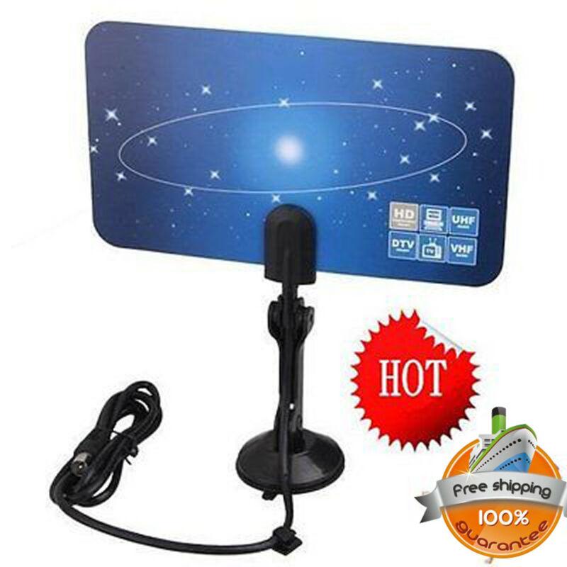 Digital HDTV Antenna Indoor 1080P 4K HD 200 Mile Ultra Thin TV Signal With Amplifier Booster Radius Surf Fox DVB-T2 TV Aerial