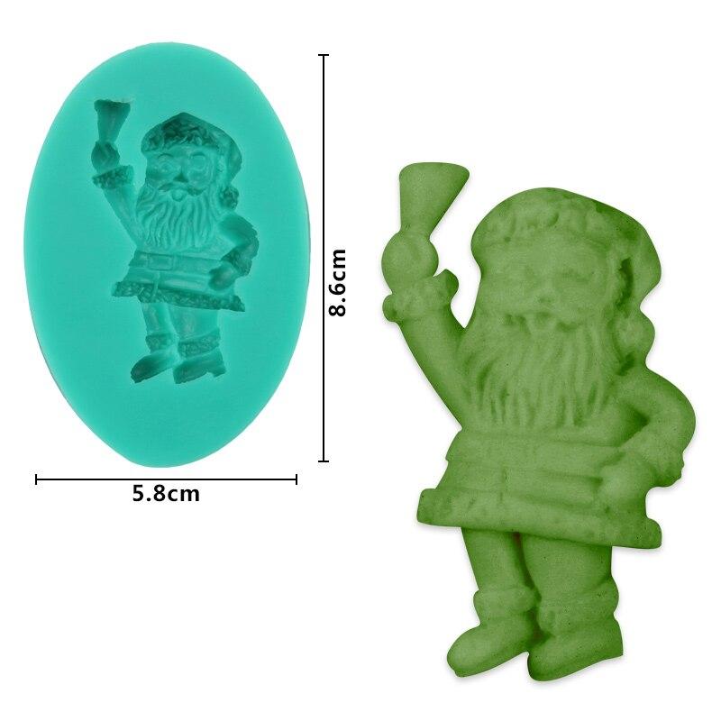 4f51022946e (10 pçs lote) Frete grátis FDA Alta Qualidade Da Moda do Papai Noel molde  de silicone bolo fondant