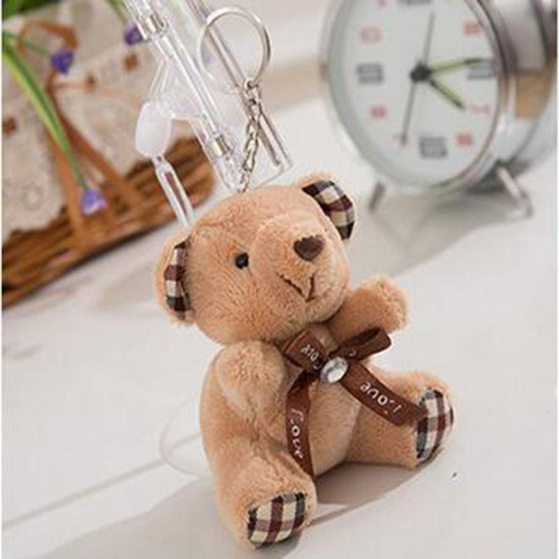 CXZYKING 20PCS 10CM Teddy Bear Plush Toy Joint Teddy Bear Stuffed Toy Wedding Gift Bouquet Decor Doll Toy Plush Charm Chain wedding teddy bear 36 cm mr lin wedding bear forever love