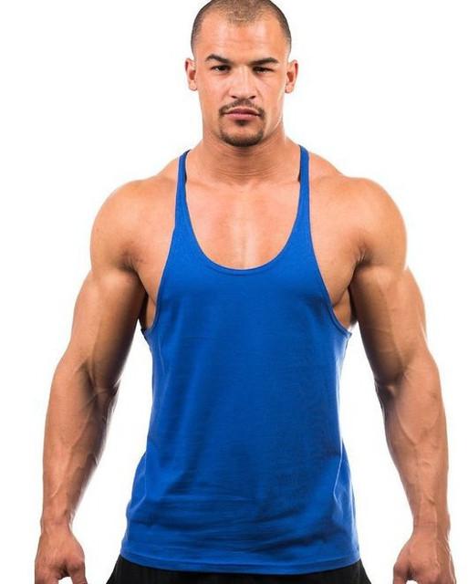 Novo 2015 sem mangas Marca Colete de Algodão parte superior Do Tanque Golds Musculação academias de ginástica roupas Sportswear desgaste Camisa do músculo T Grande Tamanho XXL