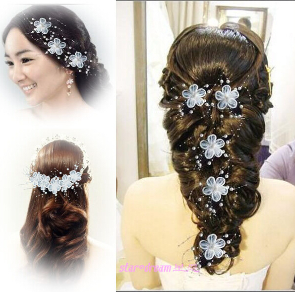 Hecho a mano pelo de la novia accesorio de los accesorios del pelo de la boda. Sitúa el cursor encima para