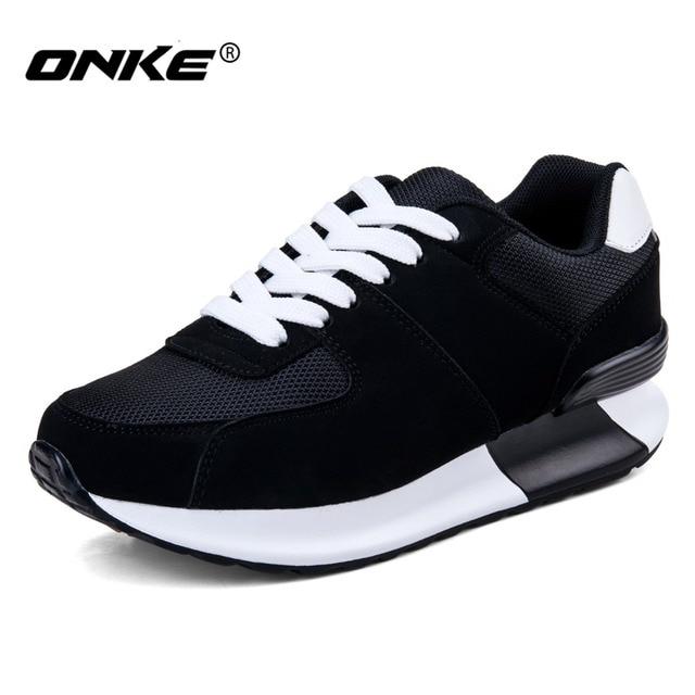 Высота увеличение onke 2016 женщины марка спорт кроссовки женские кроссовки для женщины athletic обувь на шнуровке бесплатная доставка