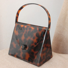 Fashion women High Quality Acrylic Leopard Print Square Hand