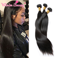 Queen Beauty Weave Products 8A Indian Hair Straight 3pcs Lot Virgin Hair Sale Double Weft Weave Bundles Crochet Hair Extensions