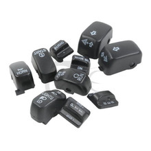 цена на Motorcycle Hand Control Switch Housing Buttons Caps For Harley Touring Electra Glide 1996-2013 SOFTAIL DYNA FLHT FLHX Dyna
