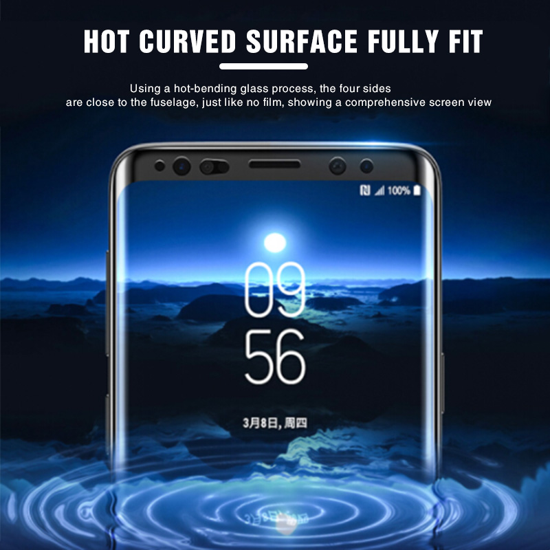 100D Full Curved Tempered Glass For Samsung Galaxy S9 S8 Plus Note 8 9 Screen Protector On The S8 S9 S7 S6 edge Protective Film