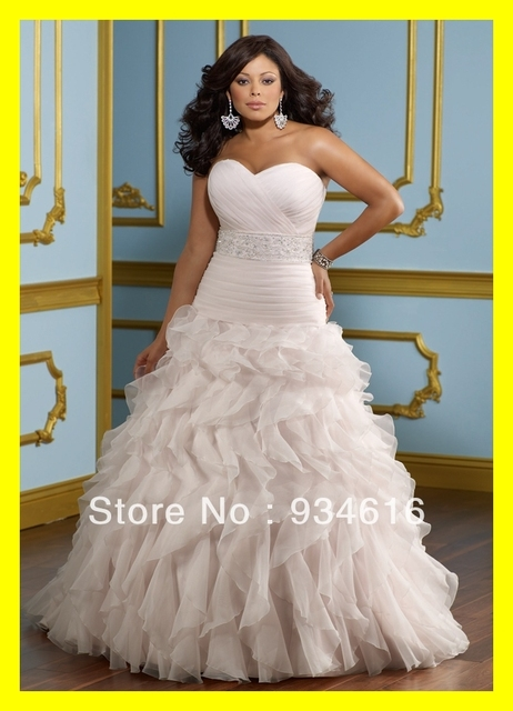 Casual Plus Size Wedding Dresses Informal Tea Length Short Dress ...