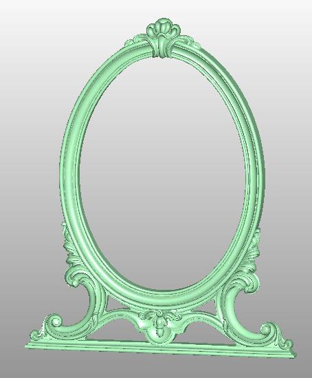 Mirror Frame 3D STL Artcam Model 779