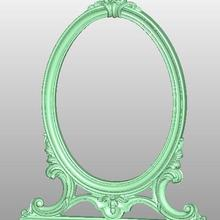 mirror frame 3D STL artcam model 779