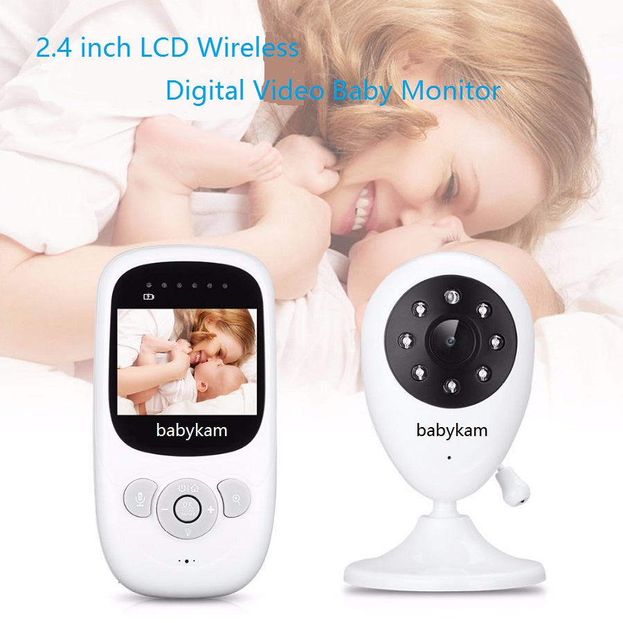 babykam babyfoon met camera 2.4 inch IR Night Light Vision Intercom Zoom Temperature Monitor Lullaby babyfoon draadloos baby cam