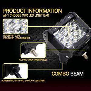 Image 4 - 2Pcs Led Light Bar 4x4 36W 6000K Day Lights Offroad Car Barra Led Work Light For Ford Jeep Motorcycle ATV UTV SUV Truck Boat