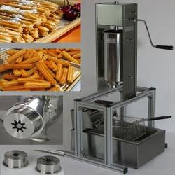 5L Silver Stainless Steel Manual Spanish Donuts Churrera Churro Maker Frying Machine Filler
