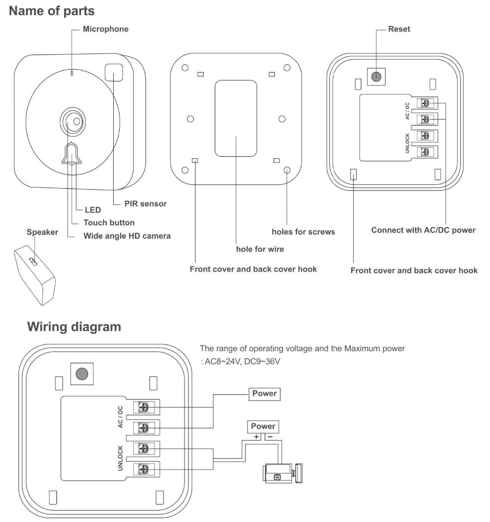 Wifi Ip Wirless Video Visual Doorbell Ring Bell Intercom Camera Wire Diagram Ac Unlock By Phone In From Security Protection On Alibaba Group