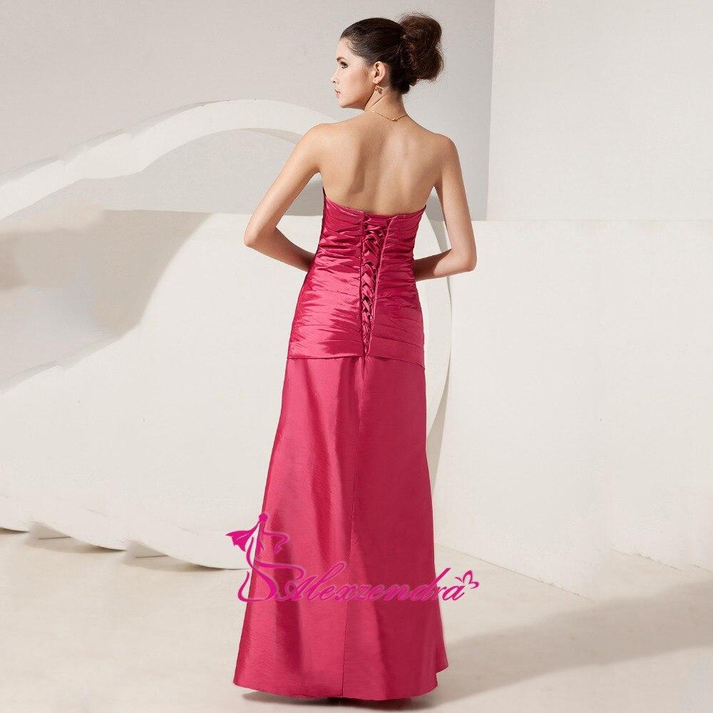 Alexzendra chérie perlée longue mère de mariée robe avec veste droite longues robes de soirée grande taille - 5