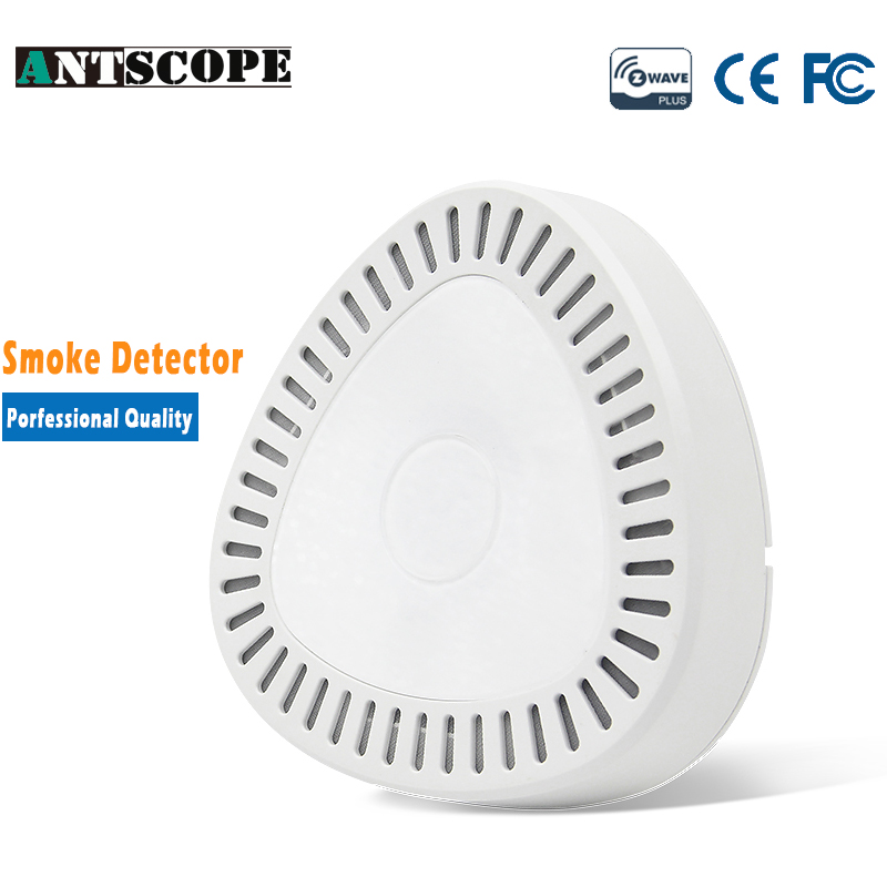 Antscope Z-Wave Plus Smoke Detector Sensor Gas Alarm Home Wireless Fire Sensor Smart Home Automation Alarm System Security golden security lpg detector wireless digital led display combustible gas detector for home alarm system