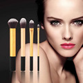 Top Quality!!!4pcs New Handle soft Synthetic Hair professional cosmetic powder kabuki blending makeup brushes blush brush
