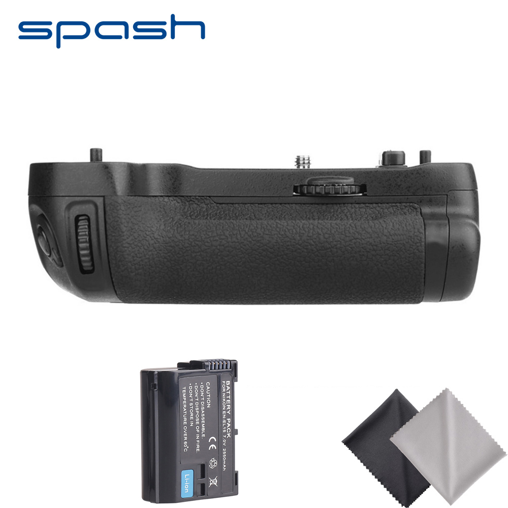 Spash pionowy uchwyt baterii z 1pc EN-EL15 bateria do Nikon D500 jako MB-D17 uchwyt do aparatu uchwyt zestaw baterii