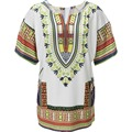 S-XL Dashiki White Ethnic African Dresses Shift Loose Summer Casual Indian Printed Ladies Dresses New Arrival Women Clothes