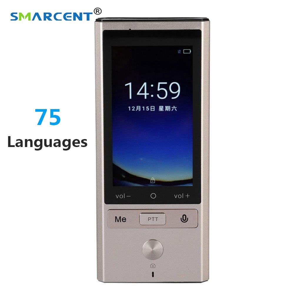 75 Languages Real Time Translation Smart Voice Translator WIFI GPS BT Multilingual Translator for Travel Meeting
