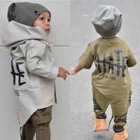Abrigo de bebé recién nacido Ropa de otoño para niños chaqueta con capucha niños sudaderas con capucha abrigos prendas de vestir edad 0-24M invierno bebek Monte abierto bebe