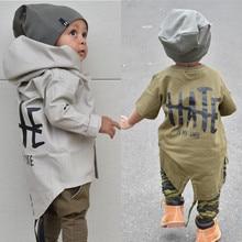 Newborn Baby Coat Boy Autumn Clothes Boys Kids Hooded Jacket