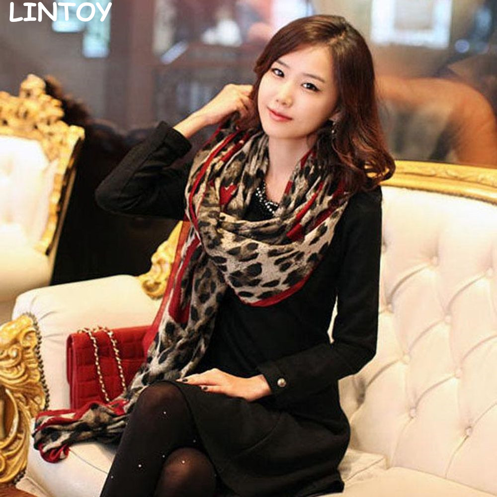 Fashion Autumn and Winter Warm Thicken Hijab Women Scarf Leopard Printing Fall Famous luxury 1PC