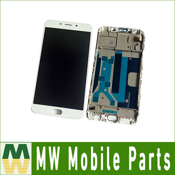 6.0 1PC/Lot For OPPO R9 Plus With Frame LCD Display Touch Screen Sensor Glass Digitizer Assembly White Color6.0 1PC/Lot For OPPO R9 Plus With Frame LCD Display Touch Screen Sensor Glass Digitizer Assembly White Color