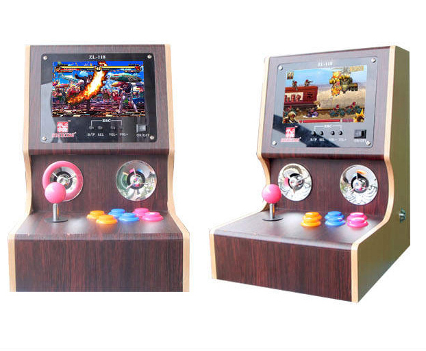 Newest  Mini arcade bundle machines/ Family Professional classic video games/ arcade machines video game console for neo geo !!! mini table top air hockey game pushers pucks family xmas gift arcade toy playset