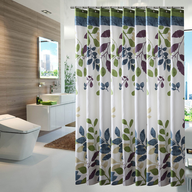 Polyester Fabric Shower Curtain Waterproof Home Bathroom Curtains Butterfly Orchid Purple Bath Crutain For The
