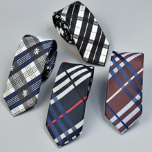 2019 New Luxury Jacquard Plaid Necktie Slim Ties For Men Wedding Skinny Fashion High-end Business Tie Mens Clothing Accessories