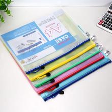 A4 A5 A6 B5 прозрачный мешок на молнии с сеткой в нескольких спецификациях держатель для файлов ручная сумка офисные принадлежности для хранения