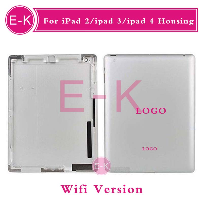 10pcs Origina For iPad 2 ipad 3 ipad 4 Wifi or 3G Version Back housing Cover Rear Case 16GB 32GB 64GB With Logo Free shipping