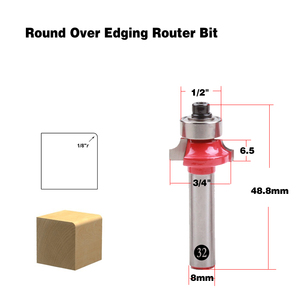 Image 2 - 1pc 8mm Shank wood router bit Straight end mill trimmer cleaning flush trim corner round cove box bits tools Milling Cutter