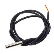 משלוח חינם 10PCS הדיגיטלי טמפ טמפרטורת חיישן Probe DS18B20 עבור מדחום 1m עמיד למים 100CM