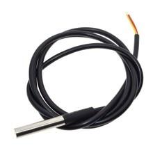 Цифровой датчик температуры DS18B20, 10 шт., для термометра, 1 м, водонепроницаемый, 100 см