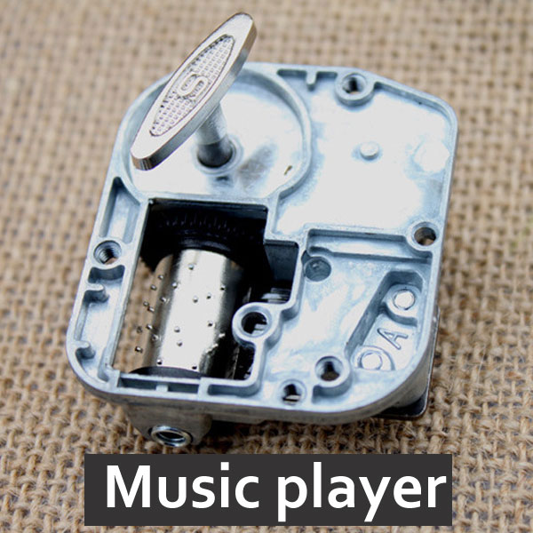 IIE CREATE Doll House Accessories Clockwork Music Player Box Diy Dollhouse Miniature Furniture Toy Birthday Gift For Children