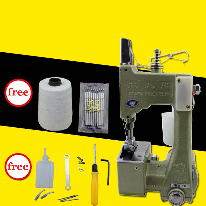 ФОТО 1PC GK9-8 Portable Manual sewing machines,Hand Packet machine,electrical portable sewing machine.rice bag seale
