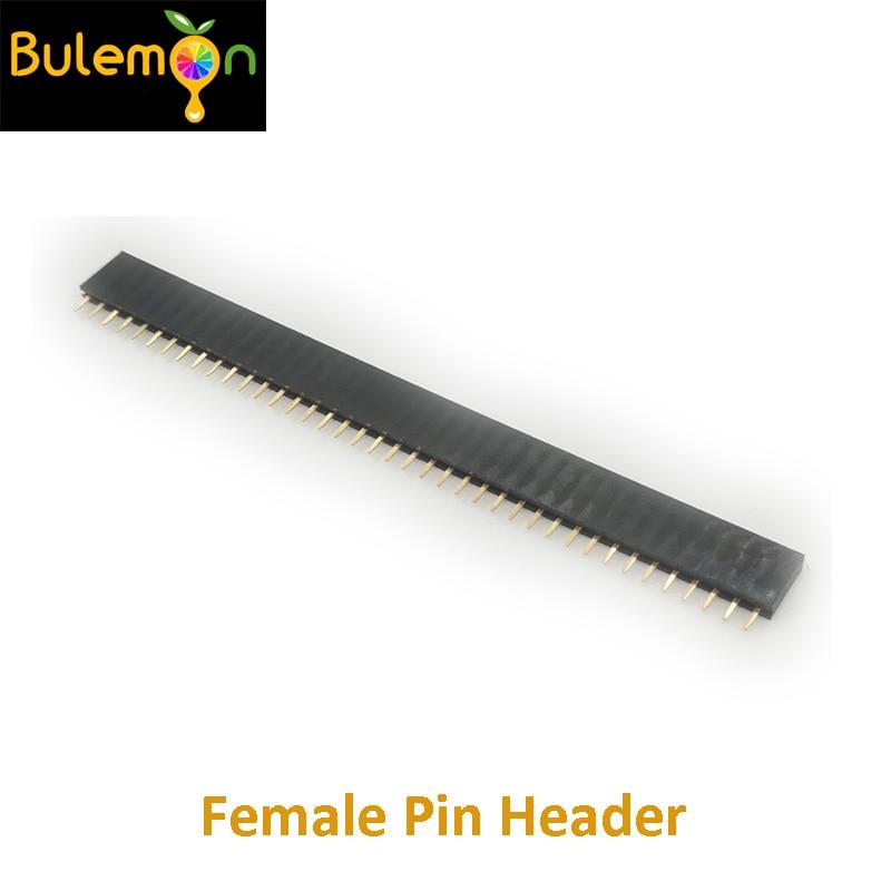 40pcs/lot 1x40P 2.54mm Single Row Female Seat Connector Pin Header