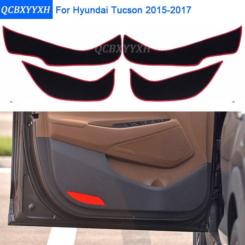 Автомобильный-Стайлинг 2 цвета протектор боковой край защита колодки Защита анти-удар двери коврики Крышка для hyundai Tucson 2015 2016 2017