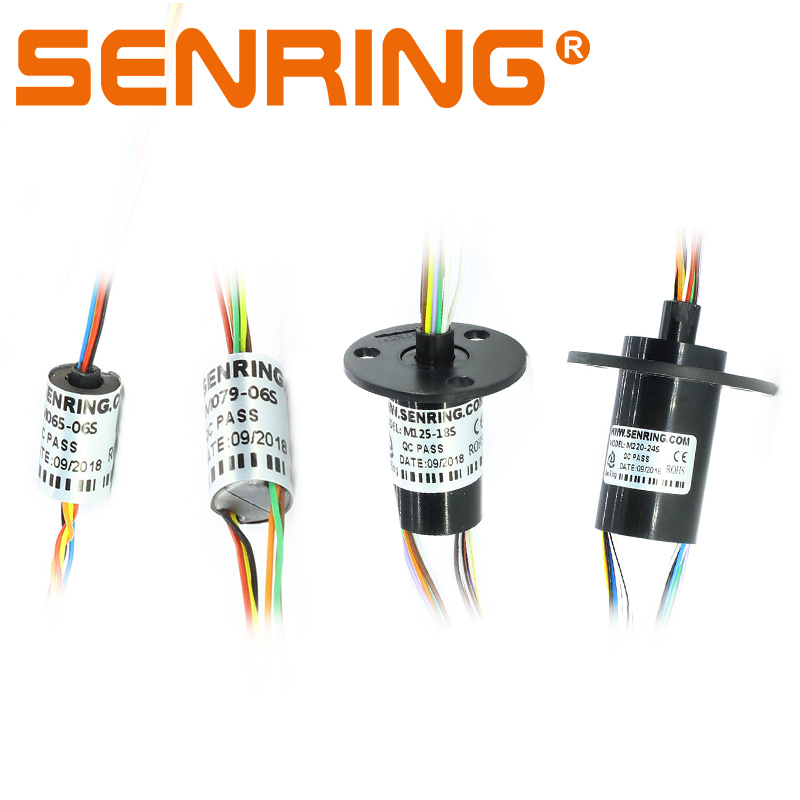Wind Power Mini Slip Ring Dia. 6.5mm 7.9mm 12.5mm 22mm With 1A/1.5A/2A Current 6 8 12 18 24 Channels Rotary Union Joint