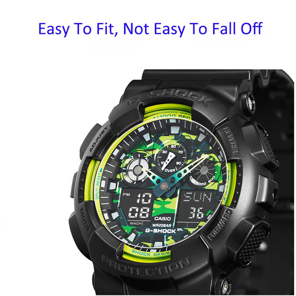 3Pcs/Lot For Casio GA100 GA110  Watch Protective Film Transparent for Casio ga100/ 110 2.5D 9H Tempered Glass Screen Protector
