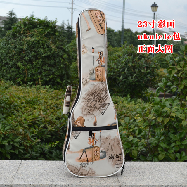 23/24 small bass guitar waterproof case concert  ukulele soprano gig soft bag strap lanikai backpack leather cover padded bolsa