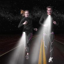 Новейший наружный спортивный фонарь светодиодный ночной фонарь для бега сигнальные огни USB зарядка грудь фонарь